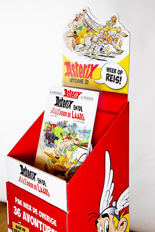 Asterix en Obelix promotionele verpakkingen vloerdisplay