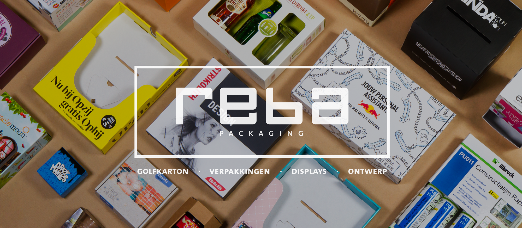 Homepage slider van de Reba Packaging website