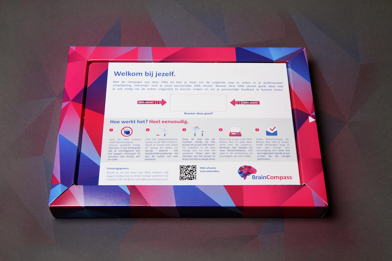 Brain Compass DNA Kit Sleeve verpakking verzenddoosje