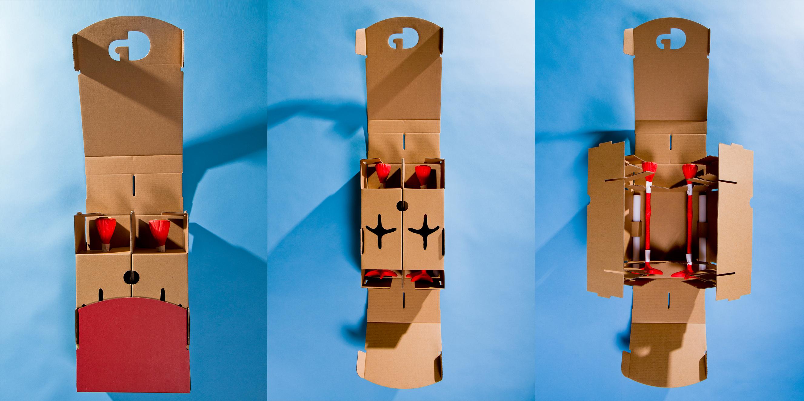 Jasmin Djerzic long legs kandelaar poten karton verpakking